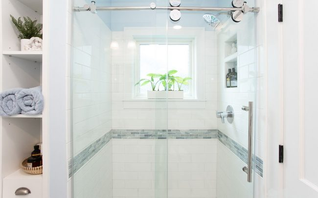 Light and airy shower renovation